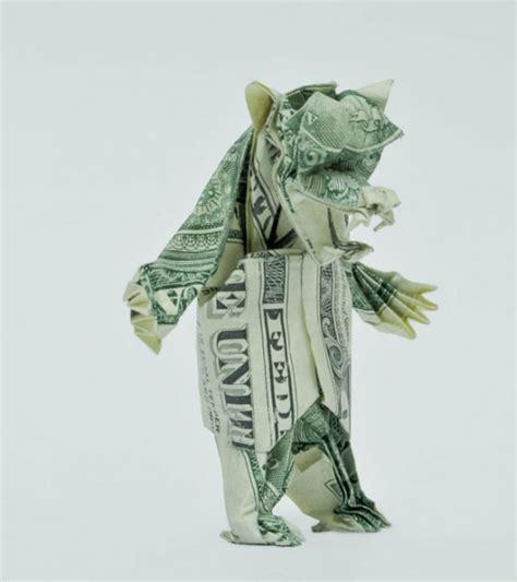 20 dollar bill origami 20 cool exles of dollar bill origami funcage