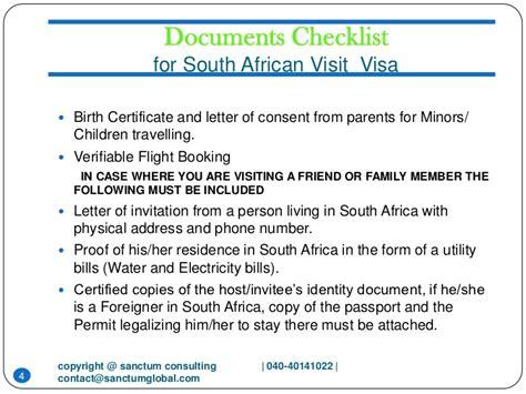 Invitation Letter For Visa South Africa invitation letter for visitor visa south africa