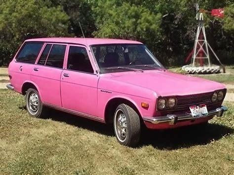Datsun Wagon but pink 1972 datsun 510 wagon