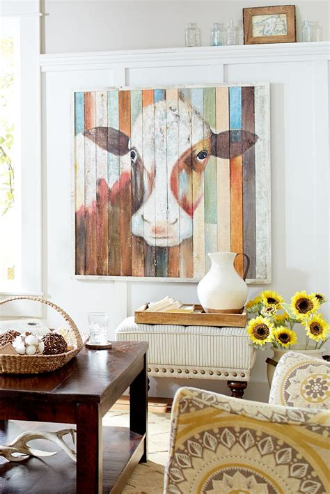 paintings home decor of the farm cow wall in 2019 wall decor home