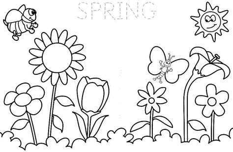 stunning springtime coloring pages printable for spring
