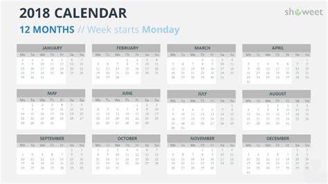 Powerpoint Templates Calendar 2018 Gallery Powerpoint Template And Layout Powerpoint Calendar Template 2018