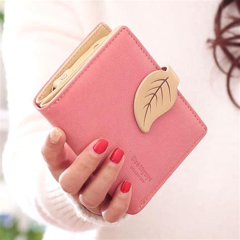 Dompet Wanita Lipat Bahan Kulit dompet kartu wanita maple leaf bahan kulit pink jakartanotebook