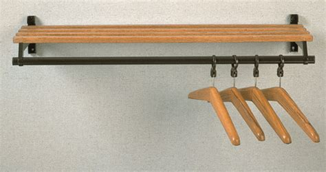 Shelf With Hanger Bar by Folding Wall Mounted Wooden Coat Rack With Hanger Bar And