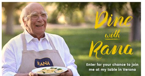 Rana Pasta Sweepstakes - win a trip to verona italy in the rana pasta giveaway 120 winners win a trip for 2