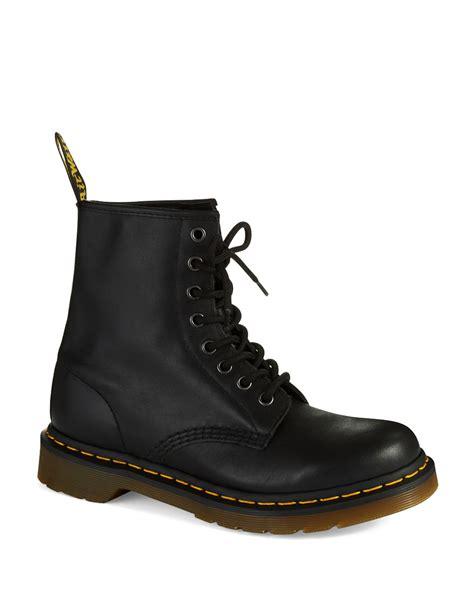 black combat boots dr martens nappa combat boots in black lyst