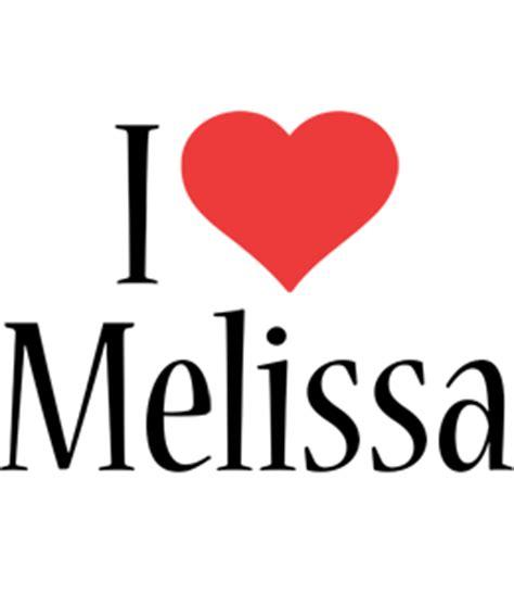 melissa logo  logo generator  love love heart
