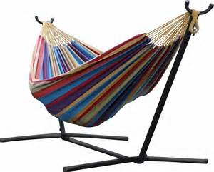 vivere uhsdo9 double hammock with space saving steel stand tropical ebay