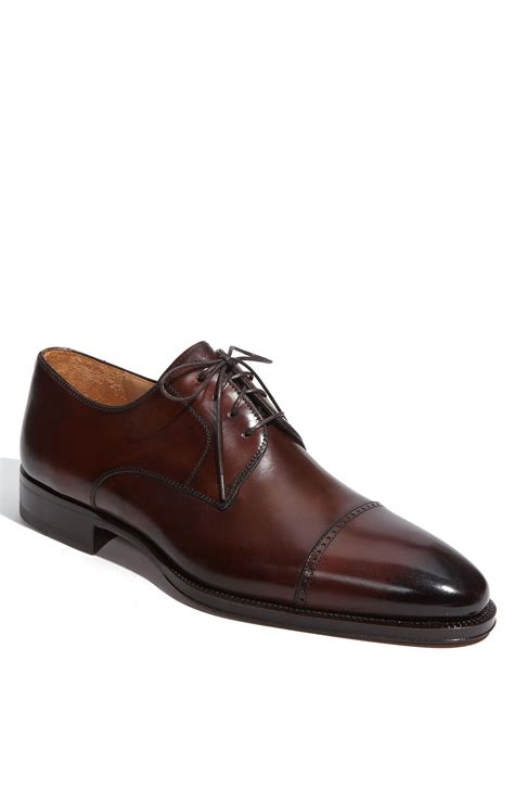 oxford cap toe shoes magnanni romas cap toe oxford in brown for mid brown