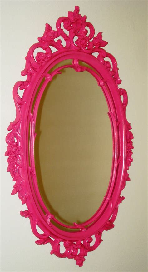 pink bathroom mirror pink hollywood regency mirror oh i want this interior