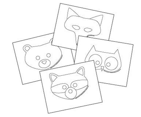 free printable animal masks templates fox mask owl mask