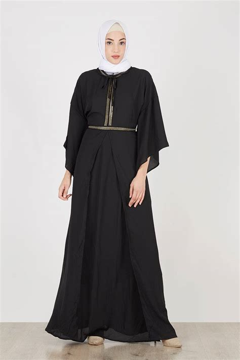 Dress Wedges Hitam Lengan Panjang Miranda Black Dress Up Ak Fzk4 sell belinda dress black dresses and jumpsuit hijabenka