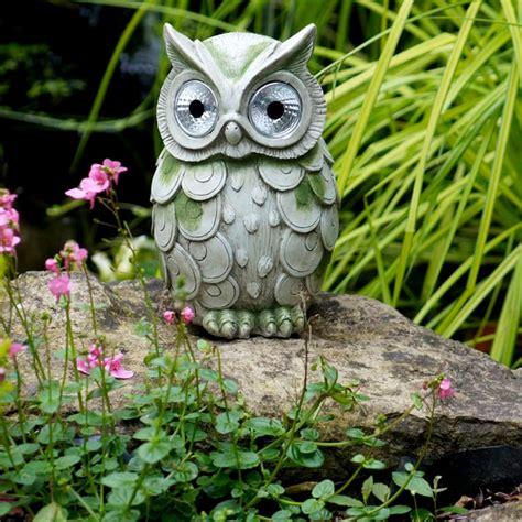 owl solar lights for garden owl with solar lights garden lights garden accessories