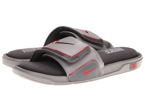 nike comfort slide 2 white and blue nike comfort slide 2 in gray for men lyst