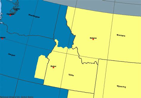 pacific time zone map pacific time zone meridian