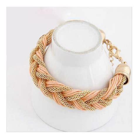 Gelang Bracelet jual gelang bracelet wanita perhiasan emas tali 3 warna