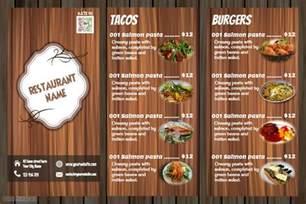 restaurant menu design wooden template postermywall