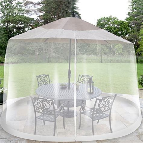 umbrella table screen insect cover outdoor patio bug