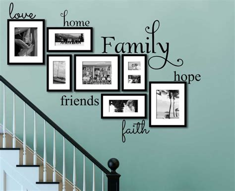family friends home quote creative wall art sticker faith family friends wall art on turquoise wall ideas