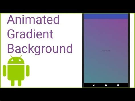 best android studio tutorial pdf animated gradient background like instagram android