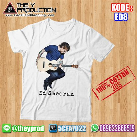 Kaos Ed Sheeran Plus kaos ed sheeran ed8 kaosbandbandung