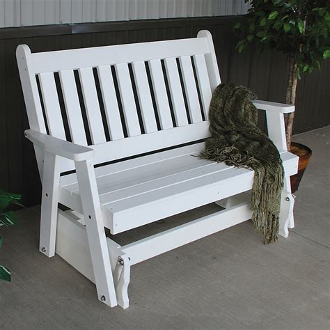 4 traditional english gliding bench 187 amish woodwork