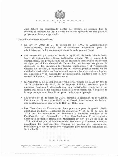 ley 12015 de 21 de diciembre del presupuesto de la proyecto de ley del presupuesto general del estado 2016