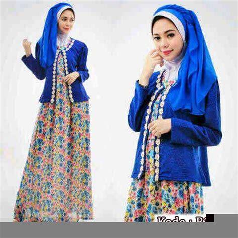 Kain Katun Untuk Blazer baju gamis wanita p1178 kombi blazer gaun muslim cantik
