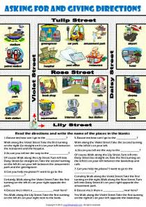 giving directions worksheet images