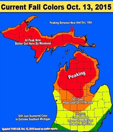 fall colors map breathe in it s fall in michiganplymouth voice