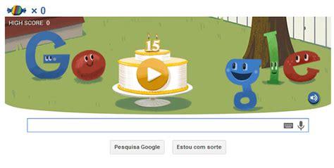 doodle jogos do doodle festeja 15 anos do e muitos doces
