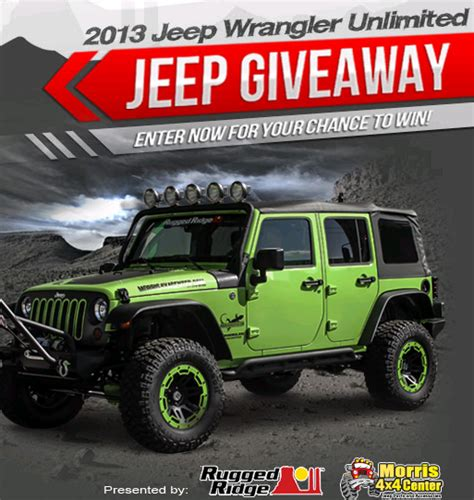 Morris 4x4 Center Jeep Giveaway Winner - morris 4x4 center jeep wrangler giveaway autos post