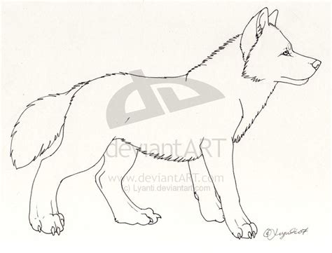 template simple wolf and greyhound coloring pages