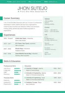 Color Resume Templates Free Resume Template Color Resume Template
