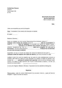 Lettre De Résiliation Mobile Bouygues Telecom Lettre De Contestation D Une Relance Par Bouygues Telecom Demandant La Restitution Du Mat 233 Riel