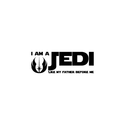 me like my stickers room wallstickers i am a jedi like my before me wars