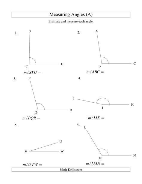 measuring and classifying angles worksheet abitlikethis