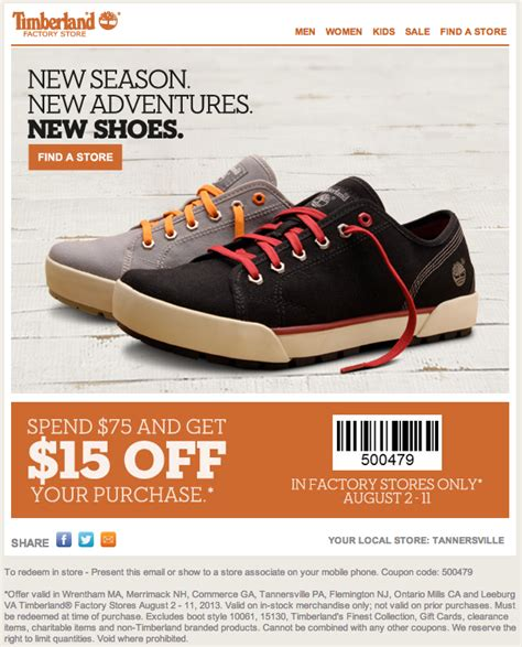 printable coupons for timberland outlet timberland outlet coupon bye bye laundry