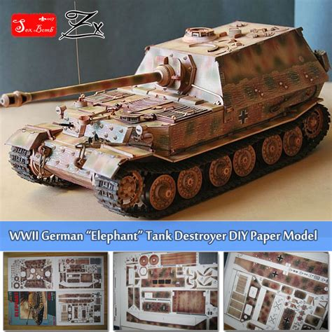 aliexpress germany aliexpress com buy 1 25 scale wwii germany elefant tank