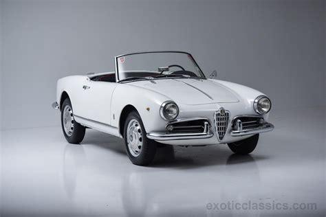 classic alfa romeo wallpaper 1958 alfa romeo giulietta spider classic cars white