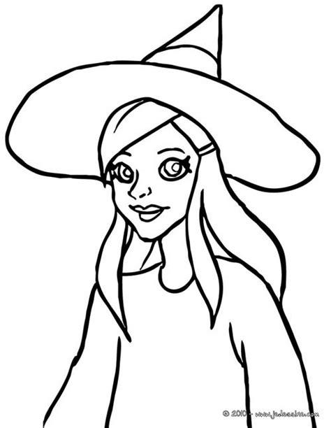 imagenes de brujas bonitas para dibujar coloriage de sorcieres d halloween coloriage jeune sorciere