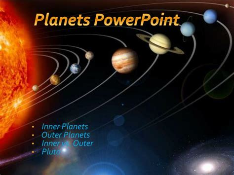 Outer Iner ppt inner planets outer planets inner vs outer pluto