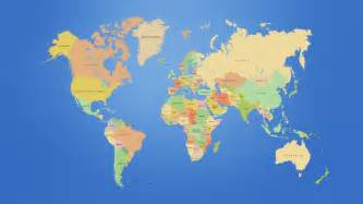 world map of this is a map of the world showing the continents and the