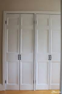 diy closet door makeover bi fold to hinged lehman