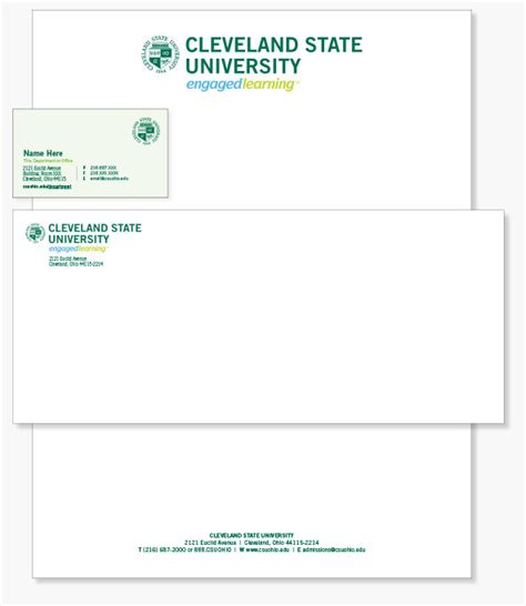 College Student Letterhead Stationery Cleveland State