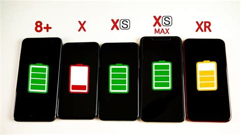 iphone xr vs iphone xs vs xs max vs iphone x vs iphone 8 plus battery drain test
