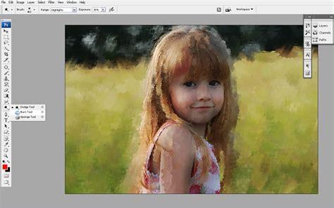 membuat lukisan abstrak dengan photoshop cara membuat lukisan di canvas dengan photoshop