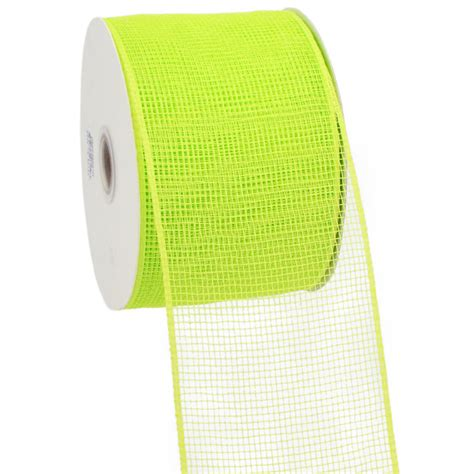 Poly Apple 4 quot poly mesh ribbon apple green rs200156