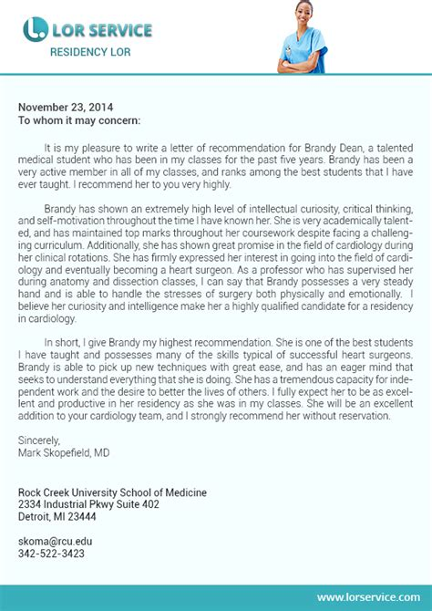 Recommendation Letter For Fellowship Letter Of Recommendation For Graduate School Sle