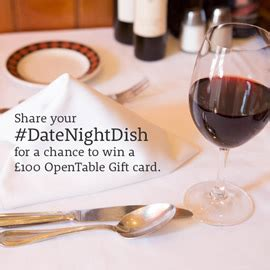 your datenightdish to win a 163 100 opentable gift card